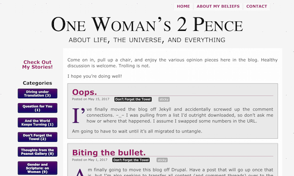 an image of a blog site
